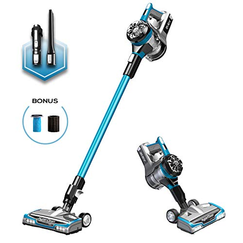 - Eureka NEC222 HyperClean Cordless Vacuum Cleaner, Super for All Carpet and Hardwood Floor, Stick and Handheld with Powerful Digital Motor