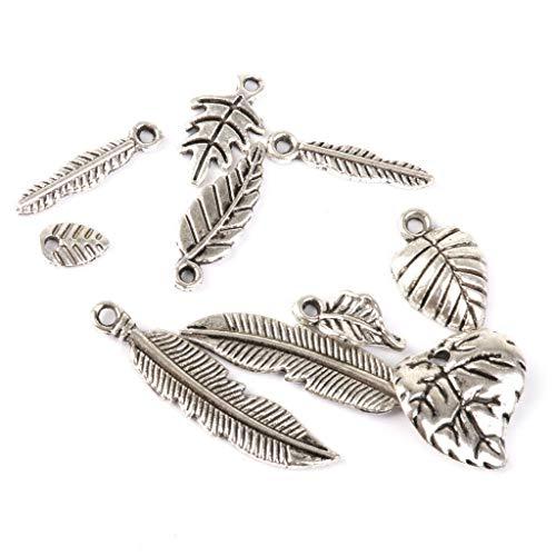 Lot 50pcs Leaves Tibetan Silver Charm Pendants DIY Jewelry Craft Findings Necklace Jewelry Crafting Key Chain Bracelet Pendants Accessories Best