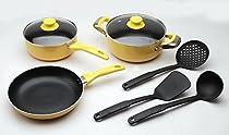 Polo Lifetime | Non Stick Cook Ware Set | 8 pieces | Yellow Color