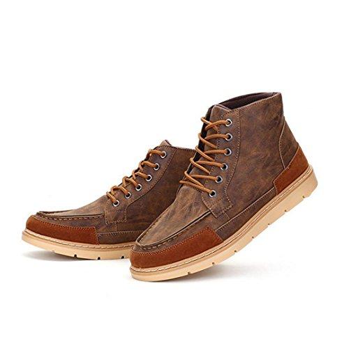 WZG Los nuevos zapatos casuales de zapatos de hombre para ayudar a los zapatos de marea Bullock británica salvaje de los hombres Brown