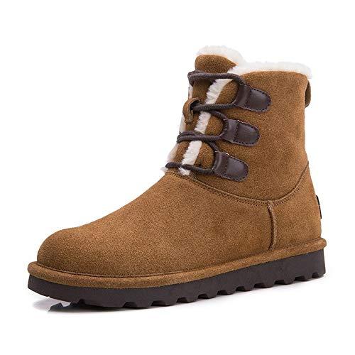BYUYAN Stiefel Pu-Snow Stiefel weibliche Stiefel Plus Baumwolle Schuhe Frauen Schuhe Herbst Winter Halteband Martin Stiefel Schuhe aus Baumwolle