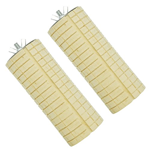 Image of Niteangel Wooden Small Animal Cage Toy, Teeth Grinding Chew Toy for Hamster Rat Chinchilla, Wooden Cage Platform, 2 Pack