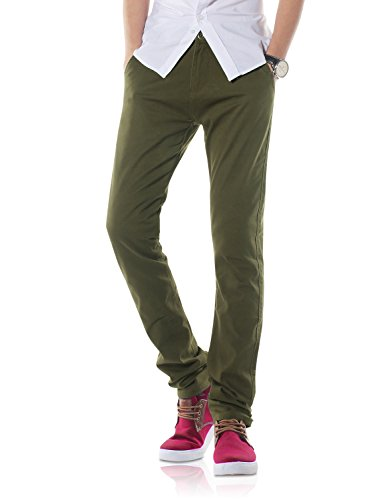 Men's Slim-Fit Chino Trousers