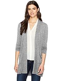 Women's Jillian Long Sleeve Solid Knit Open Cardigan