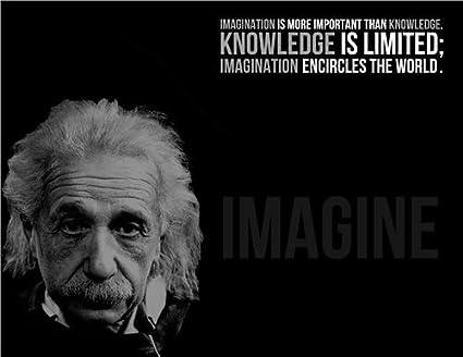 ALBERT EINSTEIN IMAGINATION GLOSSY POSTER PICTURE PHOTO quote motivational