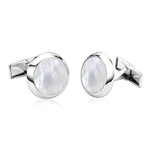 Yd Matte (MoAndy Men's Cufflinks Stainless Steel Round)