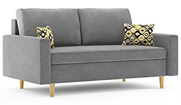Romano Furniture Double Sofa Bed Etna Grey Amazoncouk Kitchen Home
