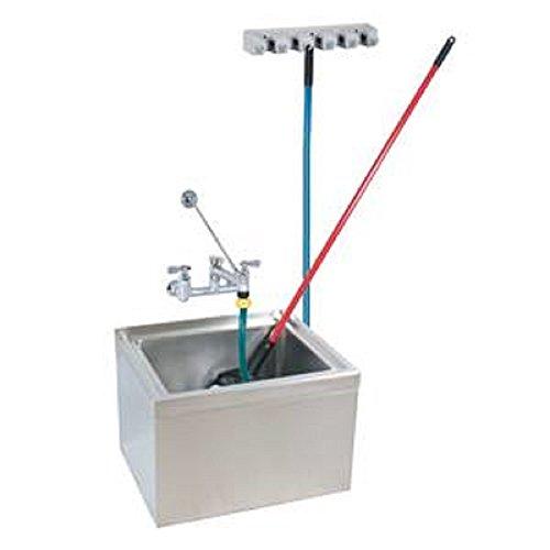 "Stainless Steel Mop Sink Kit 12"" Depth ,16"" x 20"" x 6"",dr..."
