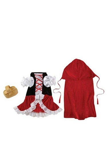Zack & Zoey Lil' Red Riding Hood Pet Costume - Red