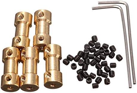 Wellen-Unterstützung 9mm Messingkupplung Kupplung mit Schraubenschlüssel und Schraube 5pcs