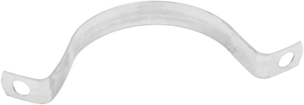 DealMux 50mm 2 pulgadas de alta Arco tubos de acero inoxidable cinta de la abrazadera del clip de plata del tono 20pcs