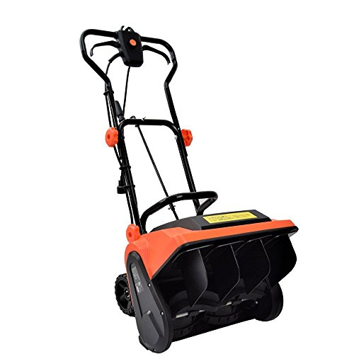 EJWOX Electric Snow Thrower 9 Amp 16-Inch Corded Snow Blower with Wheels Adjustable Handles Snow Shovel