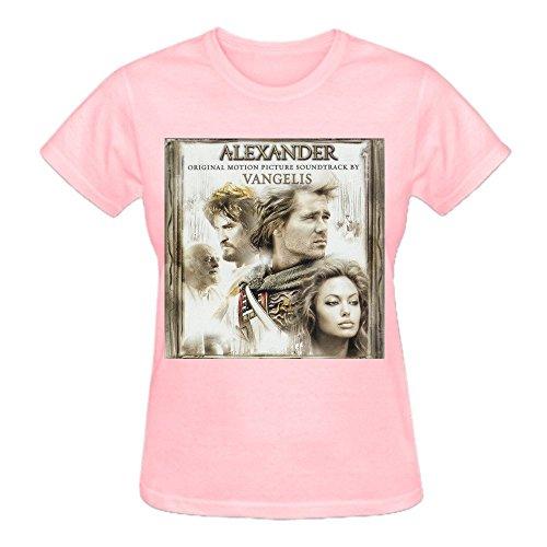 Latoca Vangelis Alexander Pure Cotton Cotton T Shirt For Women O-Neck Pink