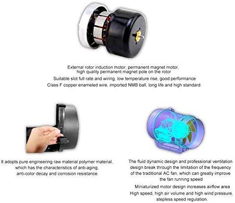 NBHUYT Inline Duct Fan, Ventilazione Fan, 6.3in CE Motore Regolabile regolatore di velocità Intelligente ControllerPWM Speed Controller 470CFM for conferenze, Hotel, ECC