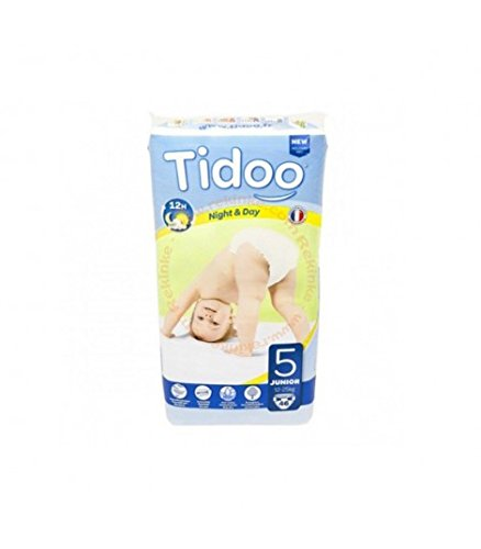 46 Disposable Night & Day Nappies - Size 5 Junior 12-25kg Tidoo 9465122