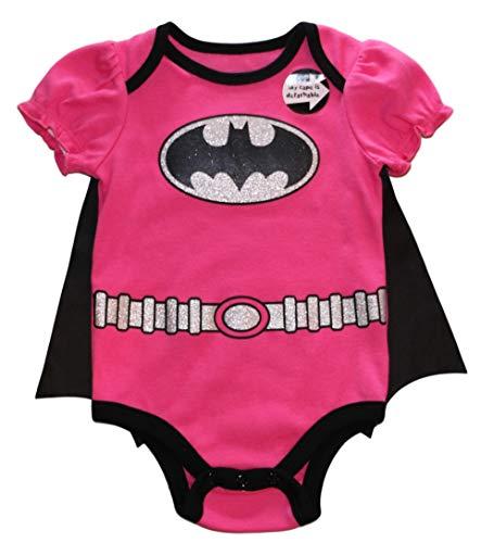 Batgirl DC Comics Baby Girls Creeper with Detachable Cape, Pink (6/9M) ()