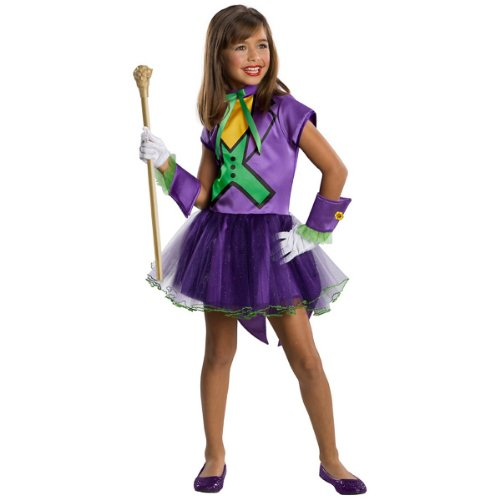DC Super Villain Collection Joker Girl's Costume with Tutu Dress, Medium]()