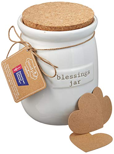 Wish Jar - Mud Pie Inspirational Count Your Blessings Jar Set