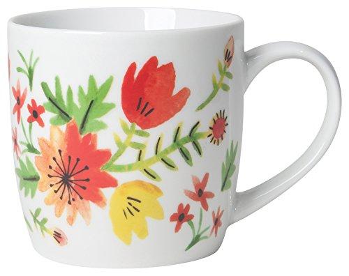 (Now Designs Porcelain Mugs, Set of Six, Midnight Garden )