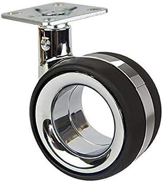 QC KE7522P 4 Rollen f/ür M/öbel 2 mit Bremse 2 ohne Bremse Durchmesser 75 mm mit Montageplatte und Schrauben im Lieferumfang enthalten