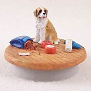Saint Bernard withSmooth Coat Candy Cane Ornament