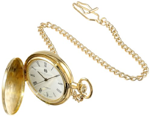 Charles Hubert 3840 Gold-Plated Mechanical Pocket Watch