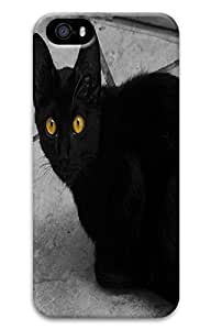 Brian For SamSung Galaxy S5 Mini Phone Case Cover - Fashion Style Black Cat With Yellow Eyes 3D PC Hard For SamSung Galaxy S5 Mini Phone Case Cover Kimberly Kurzendoerfer