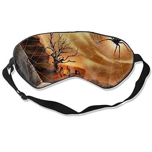 (Homlife Sleep Mask 100% Silk Eye Mask Spider Web Funny Pattern Eye Cover Sleeping Mask for Travelling, Night Noon Nap, Mediation Or)