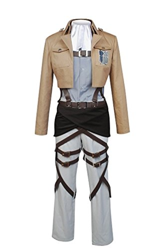 (Cosplaybar Attack on Titan Survey Corps Rivaille Levi Cosplay Costume Male M)