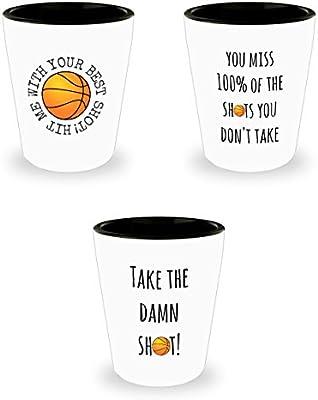 Vasos de chupito diseño de deportes - baloncesto 3 unidades 1,5 oz ...