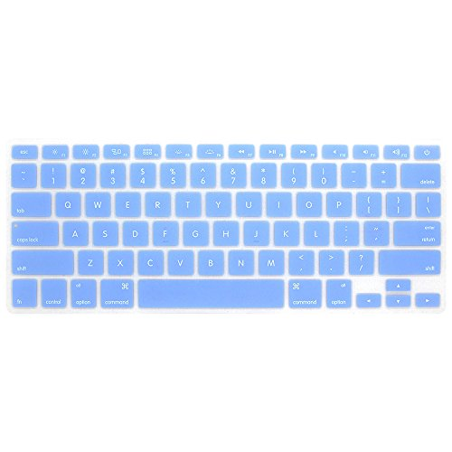 Board Protective Silicone Cover - GerTong For Mackbook Air 13' 15' 17' Keyboard Cover For MacBook Pro 13'15' 17' with Retina Silicone Skin Laptop Key Touch Fingerboard Protective Film (blue)
