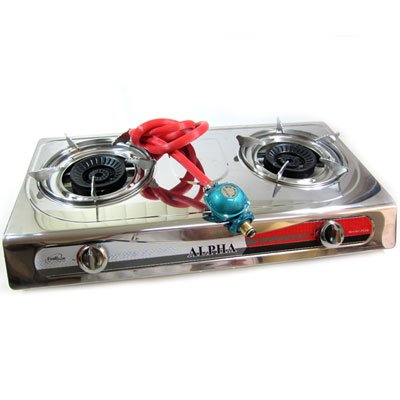 Portable Propane Gas Stove Double Burner T Gate Camping, Outdoor Stuffs
