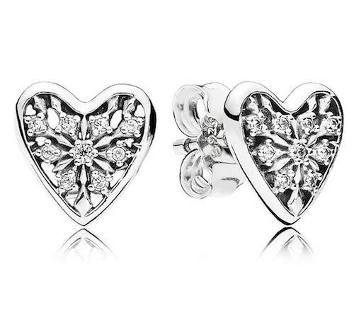 PANDORA Hearts of Winter Earrings, Clear CZ 296368CZ