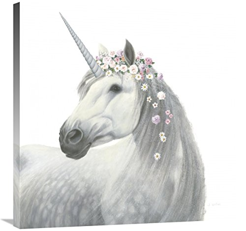 Global Gallery James Wiens, Spirit Unicorn II Square' Giclee Stretched Canvas Artwork, 30 x 30'' by Global Gallery