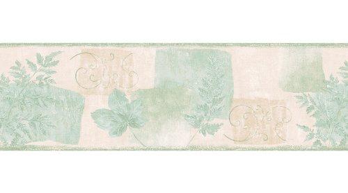 Brewster 499-28786 Green Leaves Border Wallpaper