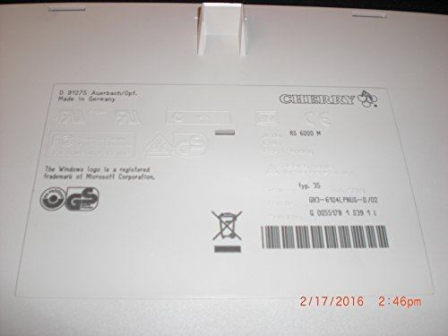 CHERRY G83-6104LPNUS-0/02 Model RS 6000M PS2 Keyboard