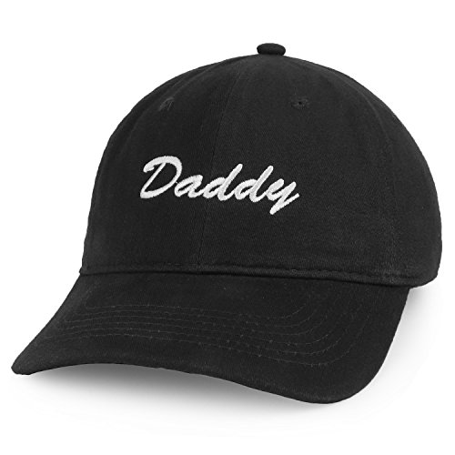 Trendy Apparel Shop Daddy Script Font Embroidered Low Profile Soft Cotton Baseball Cap - Black