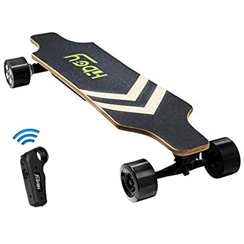 Fitnessclub Hiboy Electric Longboard - Dual Motorized Electric Skateboard with Wireless Remote Control,Max Speed up to 18.5MPH