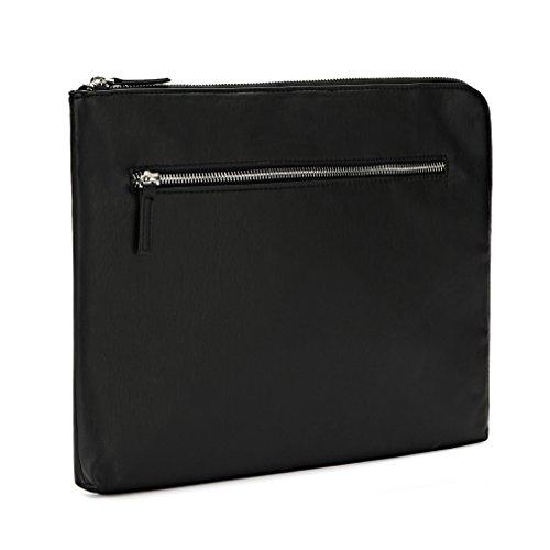 domiso negro carpeta Documentos Portable Bolso o Neceser de Piel de apto para hombres D Affari o turismo