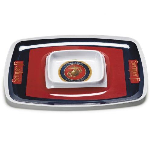 - NCAA U.S. Marine Corps Chip and Dip Tray