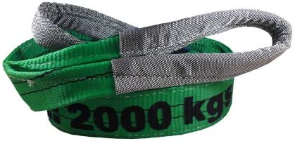 3 Tonne Duplex Polyester Webbing Lifting Cargo Sling Strap Strop 2-6mtr Color : Green, Size : 3m
