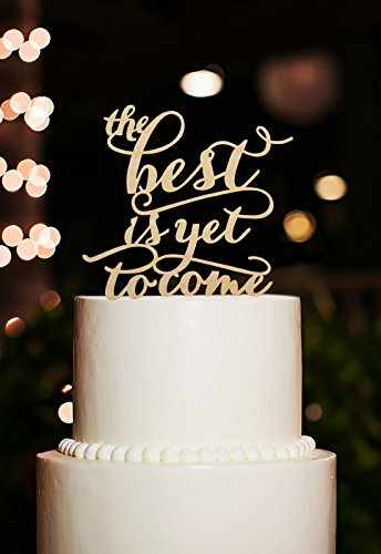 the best yet is to come wedding cake toppers rustic bridal shower cake topper