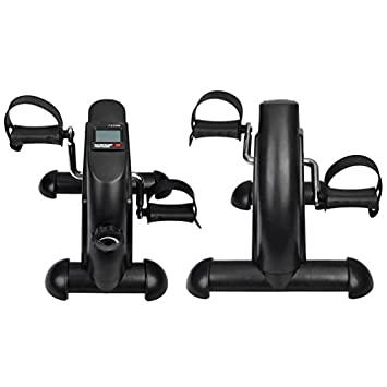 Banghotfire Mini Excercise Bike Pedal Arm and Leg Exerciser for Seniors, Under Desk Bike with Adjustable Resistance Knob