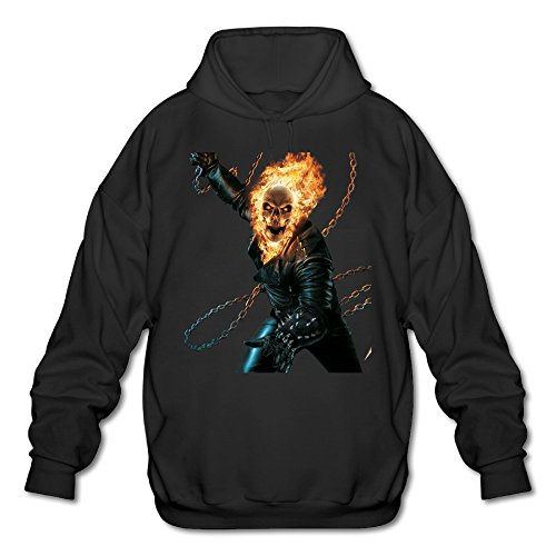 SAMMOI Ghost Rider Men's Athletic Long Sleeve Hoodie XXL Black