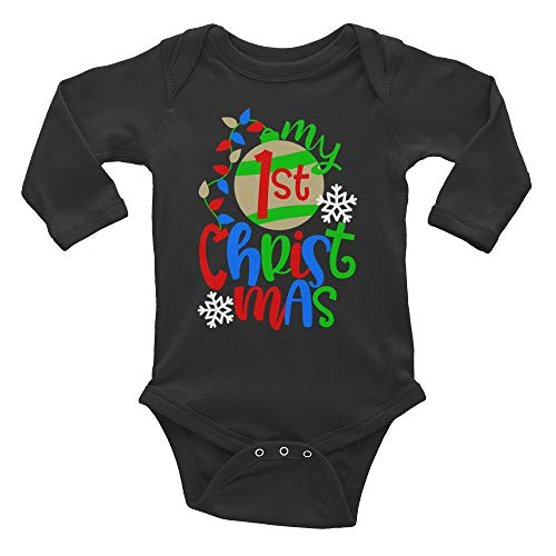 My First Christmas with Ornament and Snowflakes Infant Long Sleeve Bodysuit ()