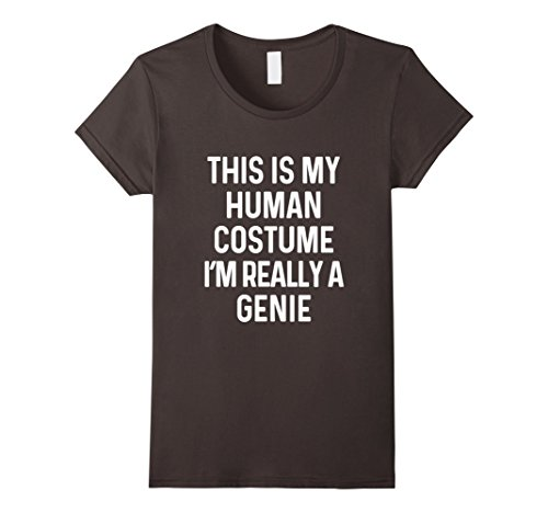Female Genie Costumes (Womens Funny Genie Costume Shirt Halloween Adults Kids Men Women Small Asphalt)