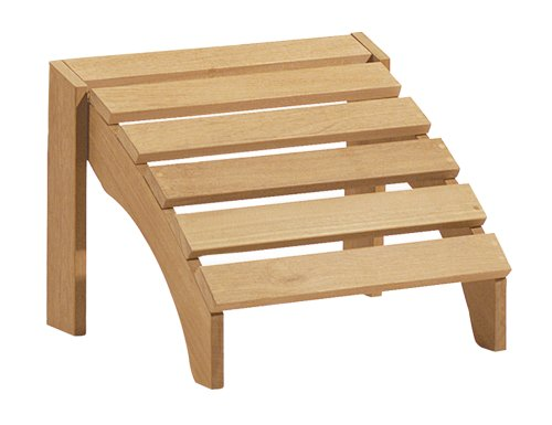 Oxford Garden Shorea Adirondack Footstool | 100% Tropical Shorea Hardwood Outdoor Furniture