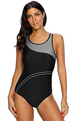 CharmLeaks Women's Pro Athletic One Piece Swimsuit Racerback One Piece Swimwear