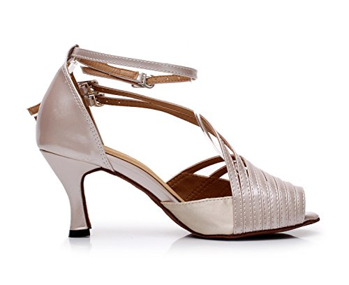 Tango Altos Jazz Shoes Mujer EU32 Tea heeled7 5cm Sandalias Salsa 5 Tacones Samba Modern Beige Our33 Para UK2 JSHOE w4nFqxz