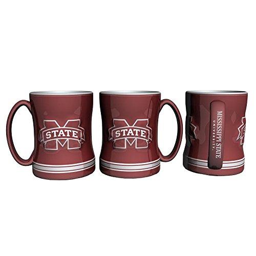 (Boelter Brands NCAA Mississippi State Bulldogs 226678 Coffee Mug, Team Color, 14 oz )